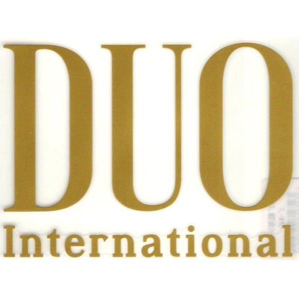 画像1: デュオ DUOロゴ転写シール(大):ゴールド【DM便配送可】