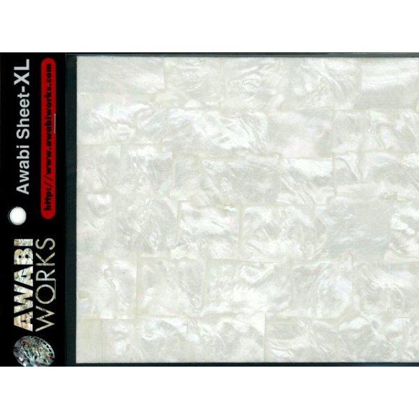 画像1: アワビワークス アワビシートXL:白蝶貝/ナチュラル【DM便配送可】